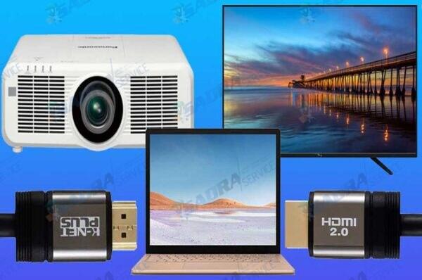 نحوه-اتصال-ویدئو-پروژکتور-به-تلویزیون