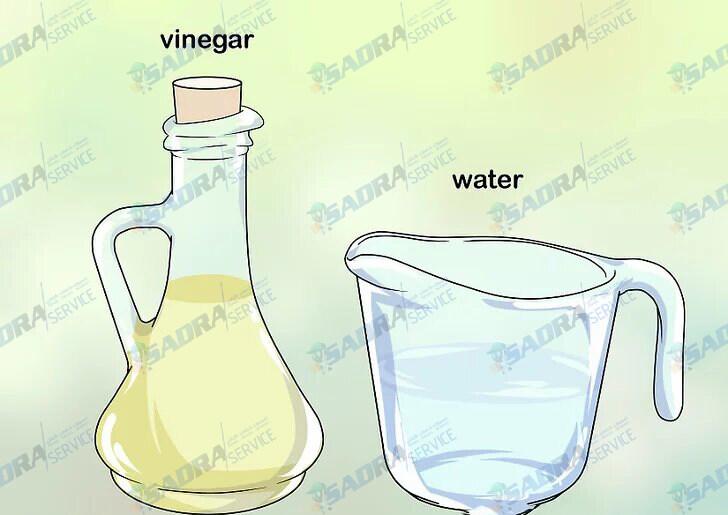 محلول پاک کننده آب و سرکه