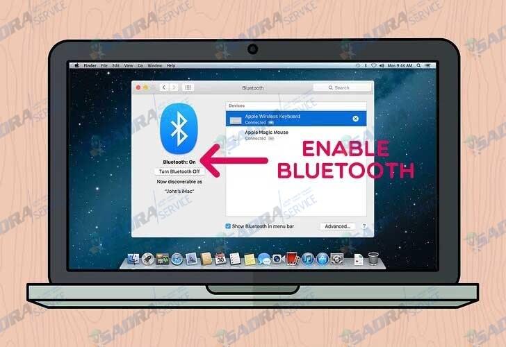 فعال کردن بلوتوث در لپ تاپ مک